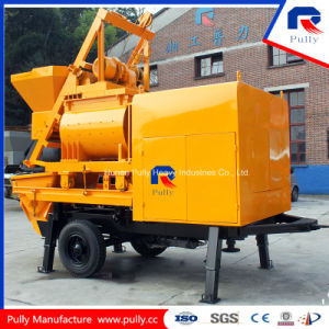 Portable Hydraulic Trailer Concrete Pump with Twin-Shaft Mixer pictures & photos