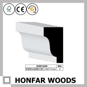 15X150mm MDF Primed Crown Moulding for Hotel Building Construction pictures & photos