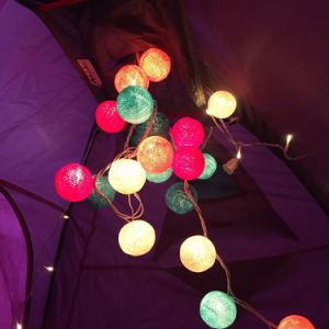 High Quality Colorful Multiple LED 2m20LED Cotton Ball Light pictures & photos