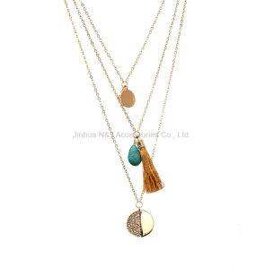 Fashion Women Jewelry Necklace Gold Plated Chain Statement Bib Chunky Necklaces pictures & photos