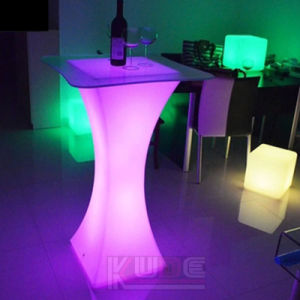 Bar Set Multi-Color Changing LED Bar Tables Bar Chairs pictures & photos