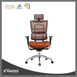 High End Cheap Price Mesh Back and Fabric Seat Executive Arm Chair pictures & photos