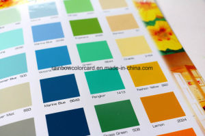 Custom Decorative Wall Paint System Pantone Color Card pictures & photos