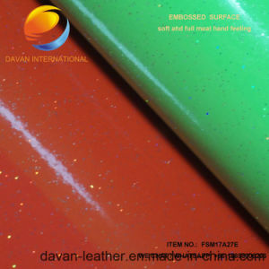 New Style Synthetic Leather for PU Shoe Upper Fsm17A27e pictures & photos