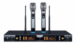 Ls-Q2 Karaoke Microphone Double Channels UHF Wireless Microphone pictures & photos