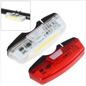 150lm 6 Modes USB Rechargeable Front Rear Red White LED Bike Light pictures & photos