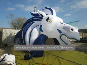 Inflatable Football Blast Horse Mascot Tunnel pictures & photos