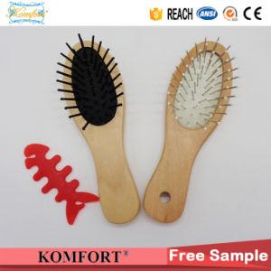Mini Nylon Detangling Hair Brush, Baby Comb Wood Brush Hair (JMHF-150) pictures & photos