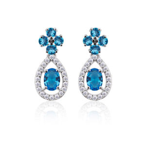 Fashion Jewelry Platinum Plated Drop Earring pictures & photos