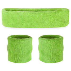 Custom Three-Piece Pure Color Sports Sweatband and Handband pictures & photos