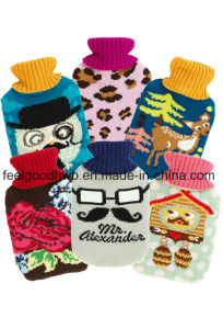 1000ml Middle Hot Water Bottle with Cartoon Design Knitted Cover pictures & photos