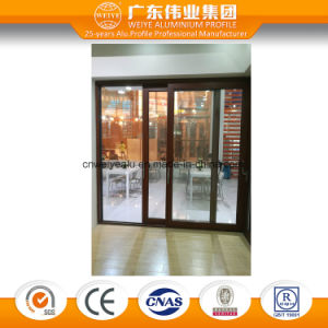 Wood Grain Aluminium Sliding Window Insulated Glass Window System pictures & photos