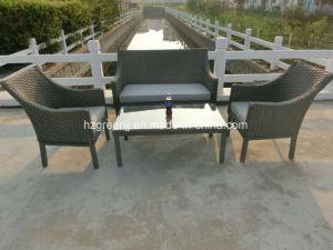 4 Pieces Conversation Sofa Set Garden Rattan Wicker Furniture pictures & photos