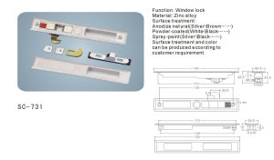 Sliding Window Lock with High Quality (SC-731) pictures & photos