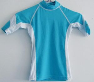 Kid′s Short Sleeve Rash Guard (HXR0024) pictures & photos