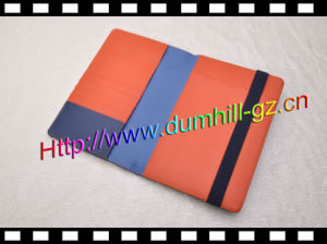 New Design Custom PU File Cover with Elastic Strap pictures & photos
