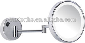 Hotel Wall Mounted Adjustable Round Magnifying Mirror with Lights pictures & photos