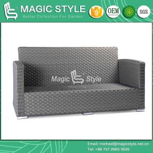 Rattan Sofa with Cushion New Design Combination Sofa Set Garden Sofa with Pillow Patio 2-Seat Sofa (MAGIC STYLE) pictures & photos