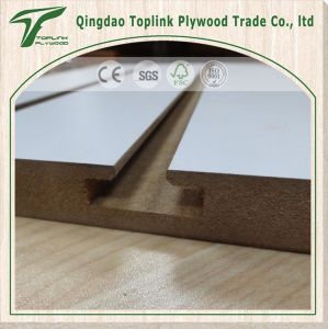 Melamine Laminated Tongue and Groove MDF, Slotted MDF Board pictures & photos