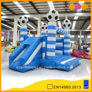 Football Theme Inflatable Combo Bouncer with Slide (AQ02107-3) pictures & photos