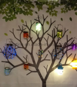 Romantic Solar Energy Hanging Luminary Mason Jar Firefly Fairy LED Lights pictures & photos