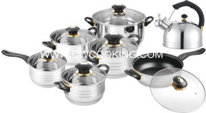 14PCS Jumbo Cookware Set with Glass Lid pictures & photos