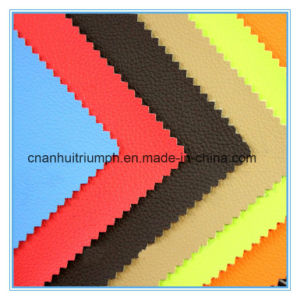 Semi PU Leather for Shoes pictures & photos