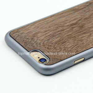 Wood Grain Solid Wood + TPU Best Quality Mobile Phone Cover Case for iPhone 7 pictures & photos