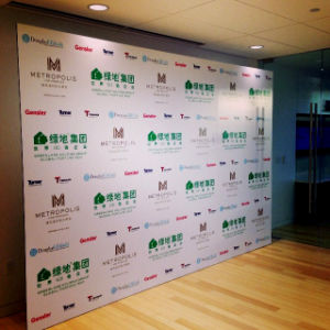 Step and Repeat Backdrop and Media Logo Walls Breast Cancer Ball/ Pinterest /Shops Banners Display pictures & photos