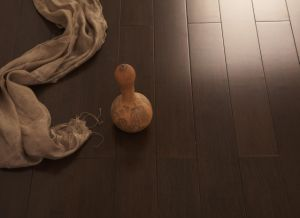 Strand Woven Handscraped HDF Bamboo Flooring-Stain pictures & photos