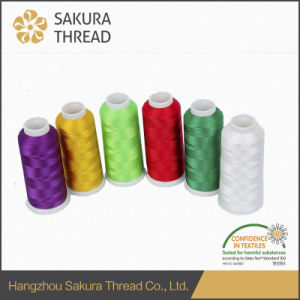 100% Polyester Thread with 1680 Color for Embroidery pictures & photos