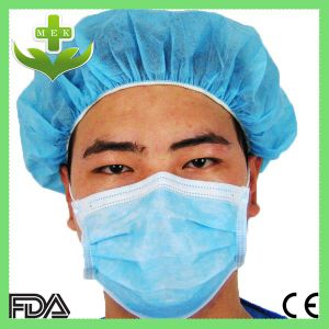 Hubei MEK Xiantao Nonwoven Medical Dust Mask Disposable 3 Ply Face Mask pictures & photos
