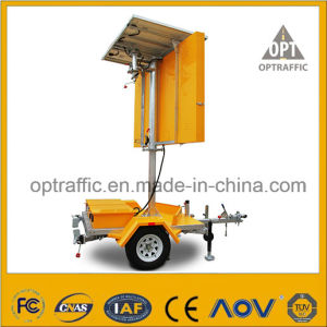 Optraffic Trailer Mounted Solar Powered LED Light Road Safety Vms pictures & photos