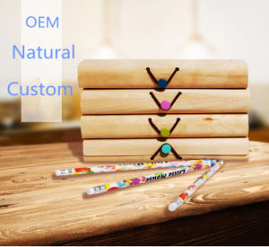 Personalized Brand Logo Soft Wood Bark Pen Box for Shool/Promotion pictures & photos