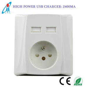High Quality16A French USB Wall Socket Outlet