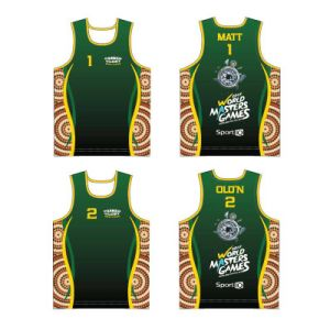 Custom Artwork Design Singlets Running Sports Vest for Runner pictures & photos