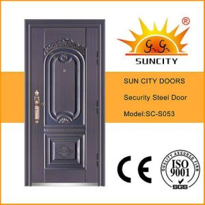 Imitate Purple Copper Paint Steel Front Door (SC-S053) pictures & photos