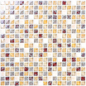 Crystal White Glass Mosaic Floor Tiles pictures & photos