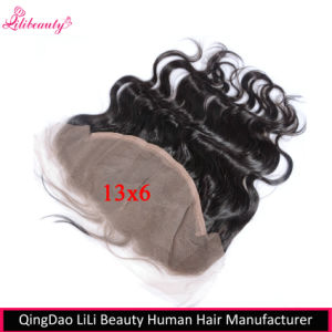 8A Grade Mongolian Virgin Hair 13X6 Ear to Ear Body Wave Lace Frontal pictures & photos