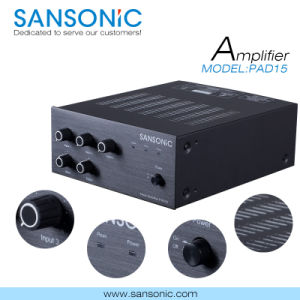 15W Professional Mixer Amplifier with CE UL RoHS Approved (PAD-15)