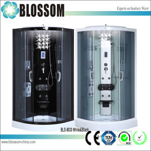 Bathroom Corner Luxury Tempered Glass Hydromassge Box Shower Cubicle (BLS-9830) pictures & photos