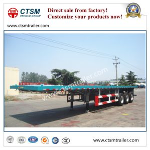 Flat Bed 40FT Container Transport Semi Trailer