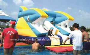 Inflatable Waterproof Dolphin Water Slide for Kids pictures & photos