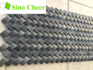 Basket Weave Black Stone Mosaic Tile for Kitchen pictures & photos