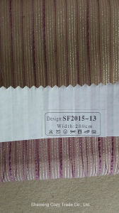 New Fashion Project Stripe Organza Sheer Curtain Fabric 201513 pictures & photos