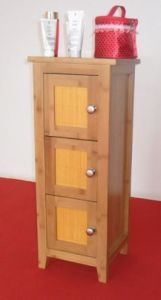 Horizontal Solid Bamboo Storage Cabinet pictures & photos