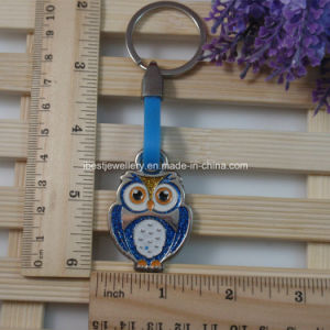 Promotional Gift - Owl Shaped Glitter Enamel Metal Keychain pictures & photos