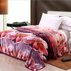 High Quality Printed Flannel Blanket Fabric pictures & photos