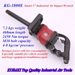"1"" Square Drive 7.2 Kgs Net Weight Industrial Pneumatic Impact Wrench"