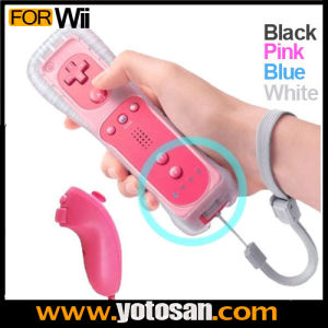 2 in 1 Motion Plus Remote and Nunchuck for Wii Controller pictures & photos